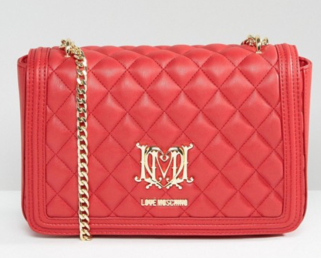 http://www.asos.com/love-moschino/love-moschino-quilted-shoulder-bag-with-chain/prd/7419127?iid=7419127&clr=Red&SearchQuery=red%20bag&pgesize=36&pge=0&totalstyles=90&gridsize=3&gridrow=1&gridcolumn=2